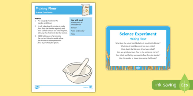 EYFS Making Flour Science Experiment and Prompt Card Pack