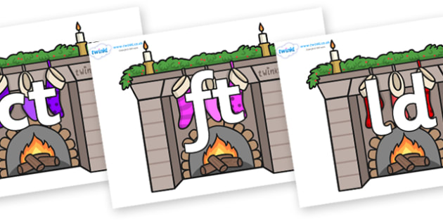 Final Letter Blends on Fireplaces - Final Letters, final letter, letter blend, letter blends, consonant, consonants, digraph, trigraph, literacy, alphabet, letters, foundation stage literacy
