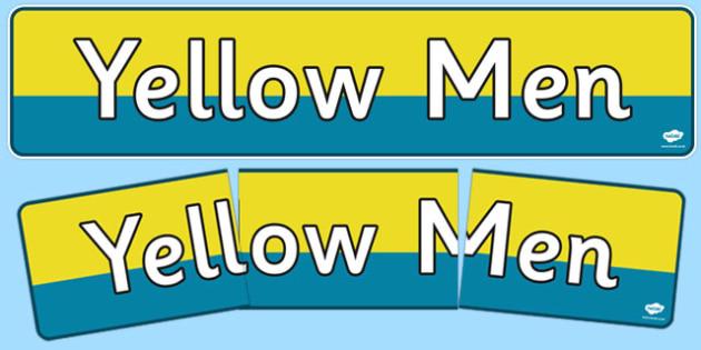 Yellow Man Display Banner - yellow, men, display, banner, display banner