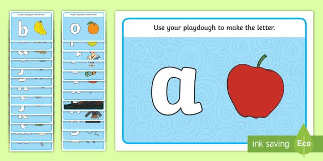 Alphabet Playdough Mats Lowercase Playdough Mat Playdough