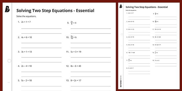 👉 Solving Two Step Equations - Essential KS3 Maths Beyond
