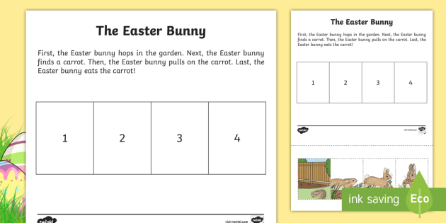 The Easter Bunny Story Sequencing Worksheet / Worksheet ...