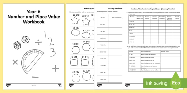 year 6 maths number and place value workbook year 6 number. Black Bedroom Furniture Sets. Home Design Ideas