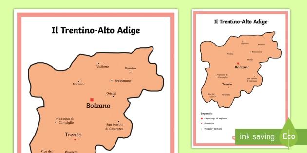 Scuola Primaria Il Trentino Alto Adige Cartina Politica
