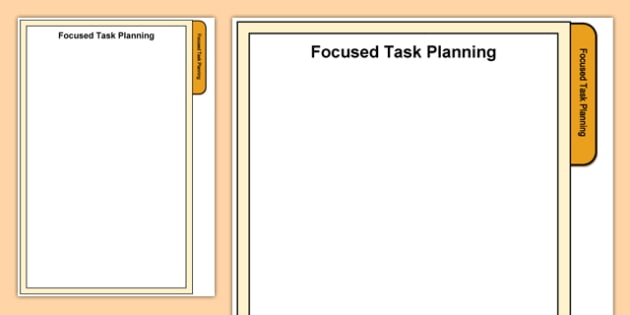 Foundation Phase Focused Task Planning Tab A4 Display Poster-Welsh