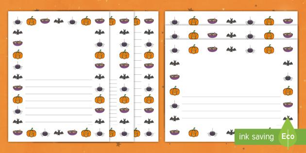 Halloween Page Borders Teacher Made
