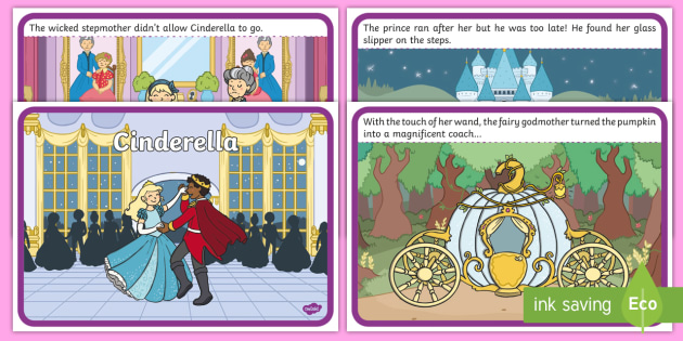 Cinderella Story Sequencing - Cinderella, slipper, Traditional tales, tale, fairy tale, Pince Charming, Ugly Sisters, Step Godmother, Dress, Midnight, Carriage, mice, pumpkin