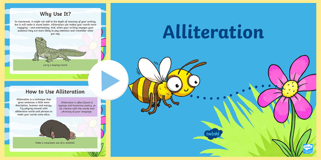 Years 3 6 Alliteration Powerpoint Figurative Language