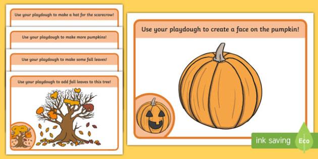 Fall Themed Playdough Mats
