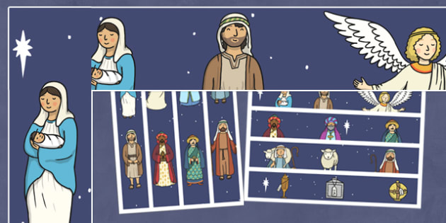 Nativity Themed Display Borders - nativity, borders, display