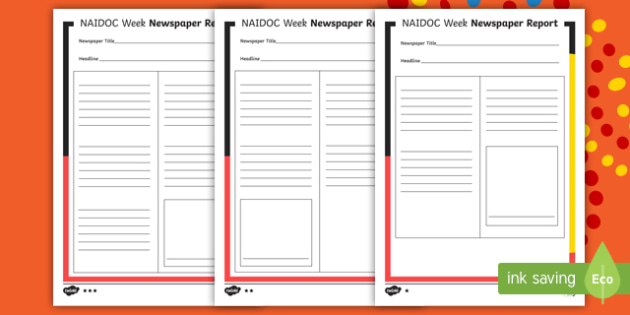 NAIDOC Week Differentiated Newspaper Article Writing Template