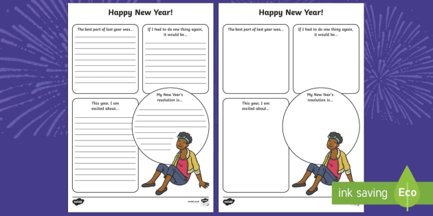 2017 New Year Resolutions Writing Frames - new year, new years, resolutions, aims, goals, wishes, promises, future, next year,