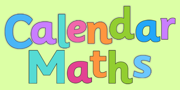 Calendar Maths Display Lettering - calendar maths, display lettering, display, letters, calendar, maths