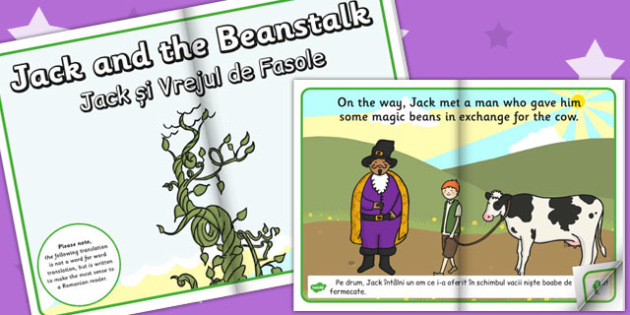 Jack and the Beanstalk eBook EAL Romanian Translation - romanian