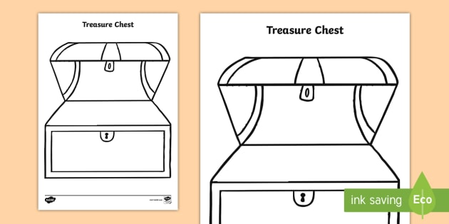 photograph regarding Printable Treasure Chests called Treasure Upper body Template - treasure upper body template, treasure