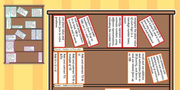 2014 Curriculum Year 2 Maths Assessment Target Colouring Bookshelf