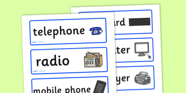 ICT Role Play Labels - ICT role play labels, ICT, role play, play, labels, labelling, computer, laptop, information, technology, communications