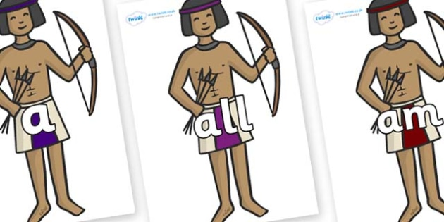 Foundation Stage 2 Keywords on Egyptian Archers - FS2, CLL, keywords, Communication language and literacy,  Display, Key words, high frequency words, foundation stage literacy, DfES Letters and Sounds, Letters and Sounds, spelling