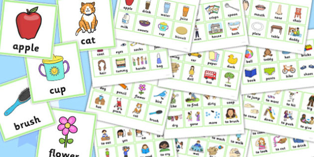 First Word Cards - first word, cards, first, word cards, word