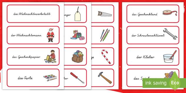 Die Weihnachtswerkstatt Wort- und Bildkarten - Weihnachten