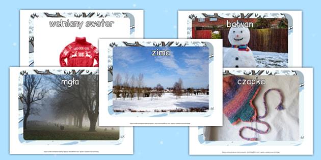 Plakaty ze zdjęciami Zima po polsku - pory roku, grudzień