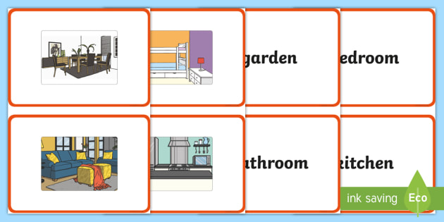 French rooms of the house a5 flashcards french rooms house ccuart Image collections