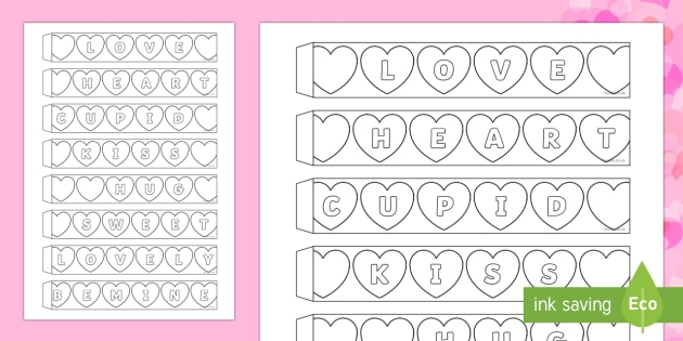 Valentine's Day Hearts Paper Chain Activity - Valentine's Day,  Feb 14th, love, cupid, hearts, valentine,