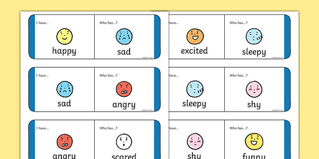 Feelings and Emotions Loop Cards