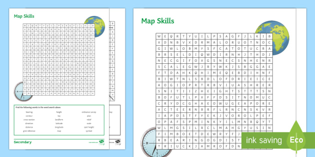 Map Skills Wordsearch Worksheet / Worksheet - Map Skills ... on language map, home map, view map, country map, information map, service map, read map, people map, print map, dotted line for map, show map, track map, twitter map, play for map,