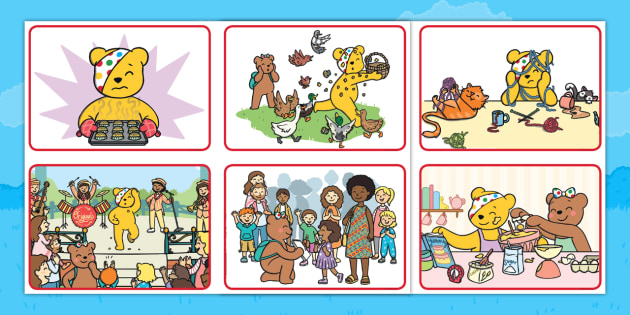 Pudsey's Great Fundraiser Story Sequencing Cards