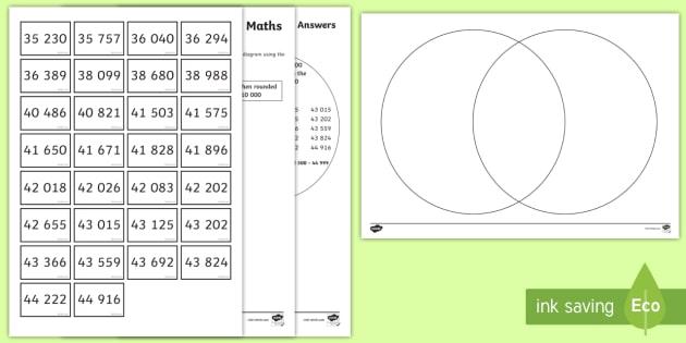 Year 6 Place Value Rounding Maths Mastery Activity - Reasoning, Venn ...