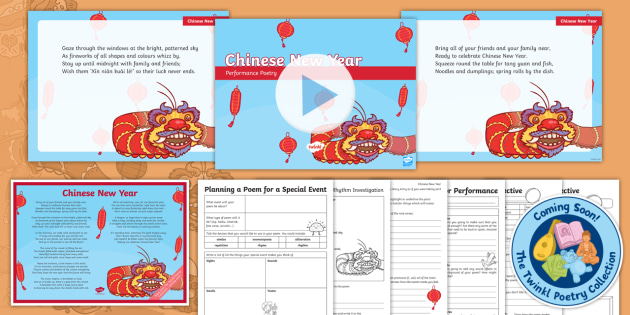 Chinese New Year Rhyming Poem And Resources From The Twinkl