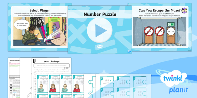 * NEW * PlanIt Maths Y6 Addition, Subtraction, Multiplication and Division Lesson Pack Mental Calculations (1)