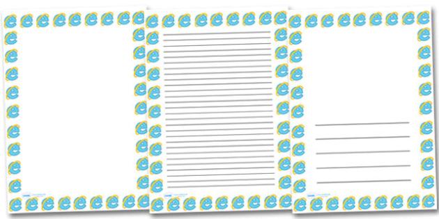 Explorer Portrait Page Borders- Portrait Page Borders - Page border, border, writing template, writing aid, writing frame, a4 border, template, templates, landscape