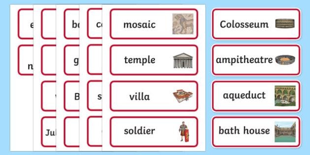 The Romans Word Cards - the romans, word cards, romans, keywords