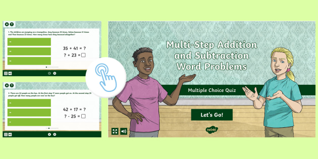 Addition And Subtraction Within 20 Multiple Choice Quick Quiz