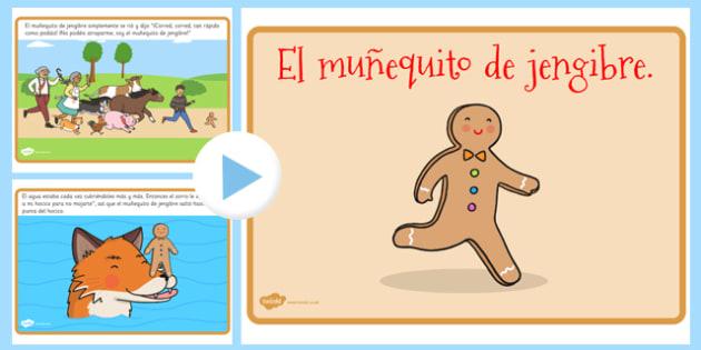 El muñequito de jengibre Story PowerPoint Spanish - spanish, gingerbread man, story, powerpoint