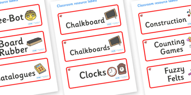 Ruby Red Themed Editable Additional Classroom Resource Labels - Themed Label template, Resource Label, Name Labels, Editable Labels, Drawer Labels, KS1 Labels, Foundation Labels, Foundation Stage Labels, Teaching Labels, Resource Labels, Tray Labels,