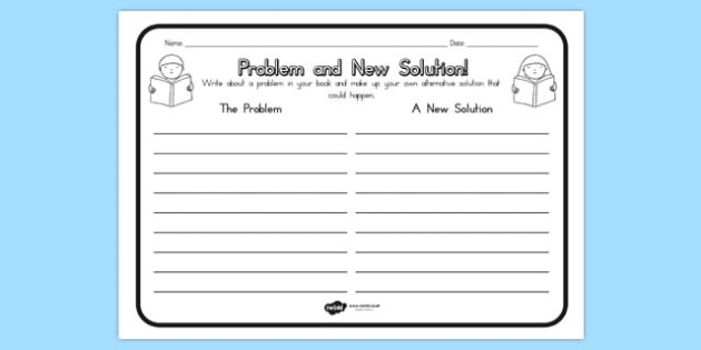 Problem and New Solution Comprehension Worksheet - australia