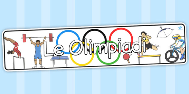 Le Olimpiadi Italian - italian, display, banner
