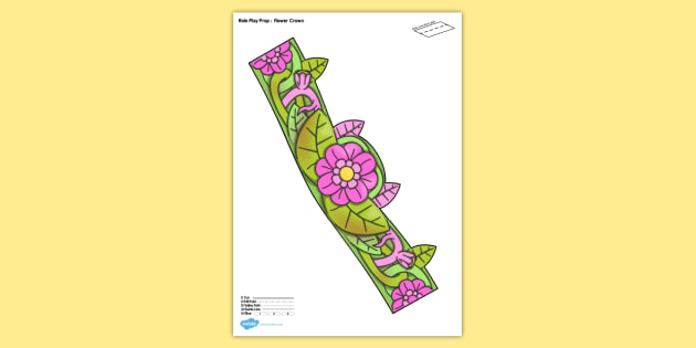 Flower Crown Printable Role Play Prop - flower, crown, role-play