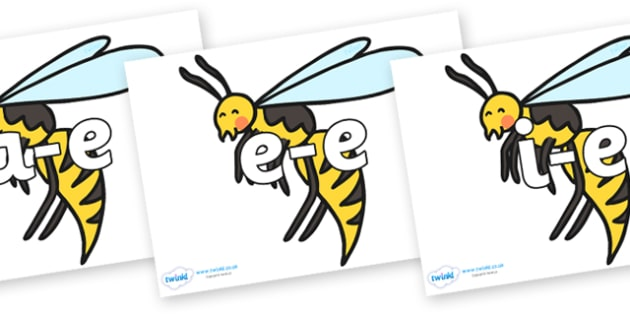 Modifying E Letters on Wasps - Modifying E, letters, modify, Phase 5, Phase five, alternative spellings for phonemes, DfES letters and Sounds