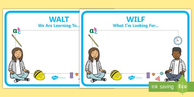 Editable Wilf Walt Display Signs Wilf Walt Classroom Signs Walt