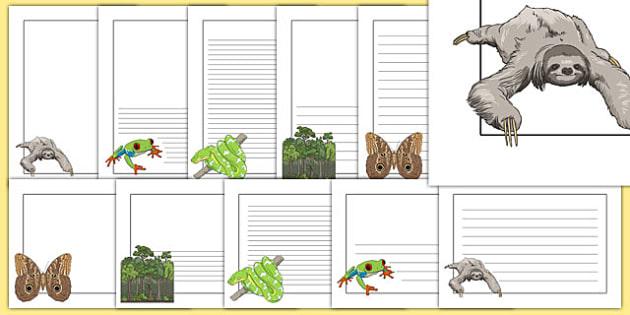 Rainforest Page Borders - rainforest, display borders, display, borders