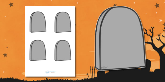 Editable Halloween Grave Stones (Small) - Editable Halloween Grave Stones, grave stones, small, display, poster, Halloween, pumpkin, witch, bat, scary, black cat, mummy, grave stone, cauldron, broomstick, haunted house, potion, Hallowe'en