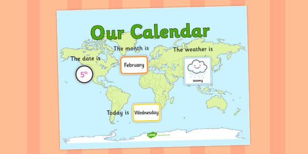 Countries Themed Display Calendar - countries, themed, calendar, display
