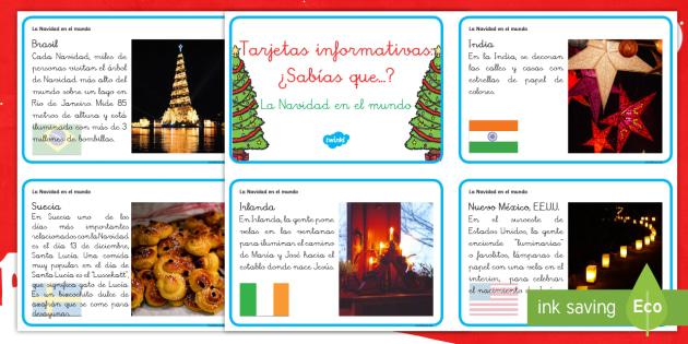 Tarjetas informativas: Navidad por el mundo - otras culturas, otras tradiciones, otros paises, navidad, navideño - otras culturas, otras tradiciones, otros paises, navidad, navideño