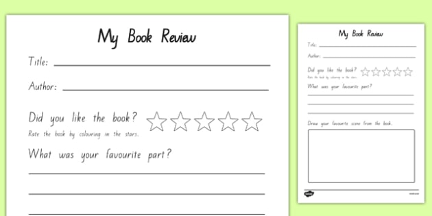 Book Review Writing Frame New Zealand - nz, new zealand, book review, book review template, my book review, book report, book report template, reading, reading and writing
