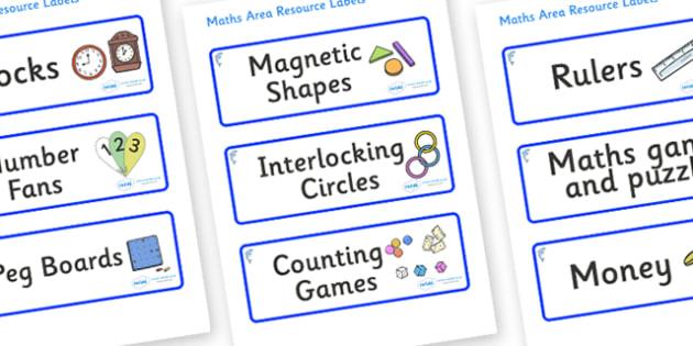 Dolphin Themed Editable Maths Area Resource Labels - Themed maths resource labels, maths area resources, Label template, Resource Label, Name Labels, Editable Labels, Drawer Labels, KS1 Labels, Foundation Labels, Foundation Stage Labels, Teaching Lab