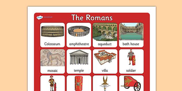 The Romans Vocabulary Poster Mat - roman, vocabulary, poster, mat